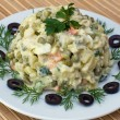 Russian traditional salad olivier — Stock Photo #23558433