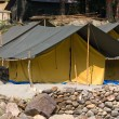 Camp on the banks of the Ganges River. India. — Stock Photo #24390703