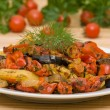 Foto Stock: Roasted vegetables