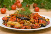 Roasted vegetables — Stockfoto