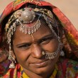 Portrait of a India Rajasthani woman — Stock Photo #24860555
