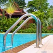 Swimming pool in Thailand - Stock Photo