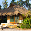 Beautiful tropical beach bungalow — Foto Stock