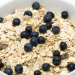 Stock Photo: Bowl of muesli with blueberries
