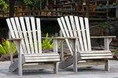 Dwa drewniane krzesło — Zdjęcie stockowe