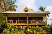 Beautiful tropical beach house — Stock Photo