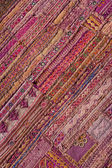 Indian patchwork carpet in Rajasthan, Asia — Stock Photo