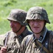 KIEV, UKRAINE -MAY 11: Members of Red Star history club wears historical German uniform during historical reenactment of WWII, May 11, 2013 in Kiev, Ukraine — Foto de Stock