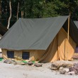 Camp on the banks of the Ganges River. Uttarakhand, India. — Stock Photo #25677957