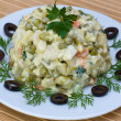 Russian traditional salad olivier — Stock Photo #25737785