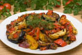 Roasted vegetables — 图库照片