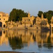 Foto Stock: Gadi Sagar Gate, Jaisalmer, India