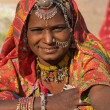 Portrait of a India Rajasthani woman — Foto de stock #28137083