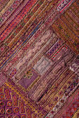 Indian patchwork carpet in Rajasthan, Asia — Stockfoto