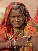 Portrait of a India Rajasthani woman — Photo