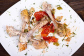Gnawed bones from chicken — Stock Photo