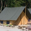 Stock Photo: Camp on the banks of the Ganges River. Uttarakhand, India.