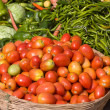 Many different ecological vegetables on market in India — 图库照片