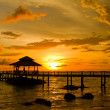 Sunset over beach, island Koh Kood, Thailand. — Stock Photo #29186763