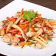 Stock Photo: Vegetable salad with chicken