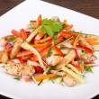 Foto Stock: Vegetable salad with chicken