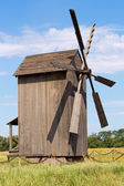 Old wooden windmill in Ukraine — Stock Photo