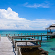 Stock Photo: Wooden pier, Thailand.