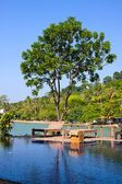 Swimming pool by the sea ,Thailand — Stock Photo