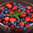 Strawberries and blueberries — Stock Photo #29496647