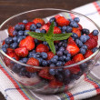 Strawberries and blueberries — Stock Photo