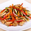 Vegetable salad with chicken — Stock Photo