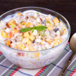 Muesli with fruit — Stock Photo