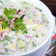 Stock Photo: Vegetable soup ( okroshk)