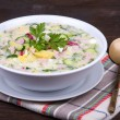 Stockfoto: Vegetable soup ( okroshk)