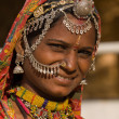 Portrait of a India Rajasthani woman — Stock Photo