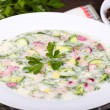Vegetable soup ( okroshk) — 图库照片 #30492409