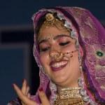 Indian fashion contest. Pushkar Fair ( Pushkar Camel Mela ) — Stock Photo