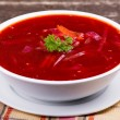 Russiand ukraine cuisine - borsch — Stock Photo #30655193