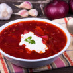 Russian and ukraine cuisine - borsch — Stock Photo #30823957