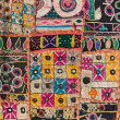 Stock Photo: Indipatchwork carpet in Rajasthan, Asia