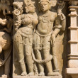 Stone carved temple in Khajuraho, Madhya Pradesh, India — Stock Photo