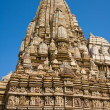 Stone carved temple in Khajuraho, Madhya Pradesh, India — Stock Photo #31023113