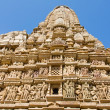 Stone carved temple in Khajuraho, Madhya Pradesh, India — Stock Photo #31171581