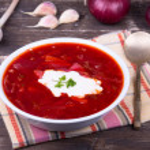 Russian and ukraine cuisine - borsch — Stock Photo #31436331