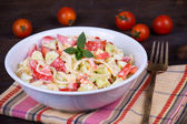 Fresh vegetable salad on plate — Stock Photo