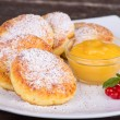 Cheese pancakes — Foto Stock
