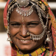 图库照片: Portrait of a India Rajasthani woman