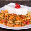 Chicken with vegetables — Stockfoto