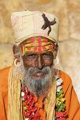 Indian sadhu (holy man) — Foto Stock