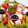 Vegetable salad with feta cheese — Stock Photo